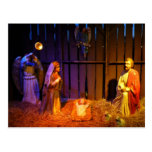 Nativity Scene Christmas Holiday Display Postcard