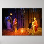 Nativity Scene Christmas Holiday Display Poster