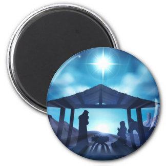 Nativity Scene Christmas Magnet