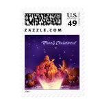 Nativity Scene. Christmas Postage Stamp Stamp