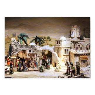 Nativity Scene Decoration for Christmas Card