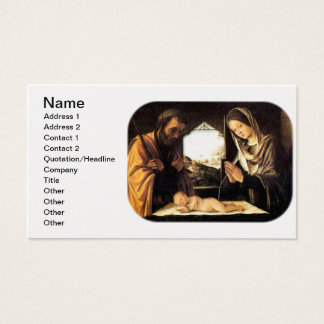 Nativity Scene for Christmas - Holy Family, Costa Business Card