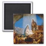 Nativity Scene Gifts for Christmas 2 Inch Square Magnet