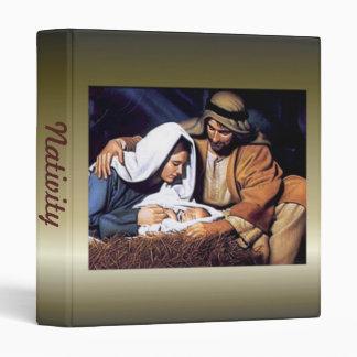 Nativity Scene Gifts for Christmas Vinyl Binders