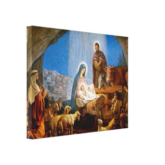 Nativity Scene Gifts for Christmas Canvas Print