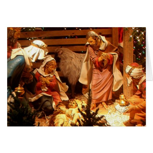 Nativity Scene Gifts for Christmas Greeting Card