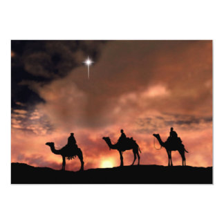 """Nativity Scene Gifts for Christmas 5"""" X 7"""" Invitation Card"""