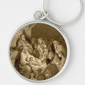 Nativity Scene Gifts for Christmas Keychain