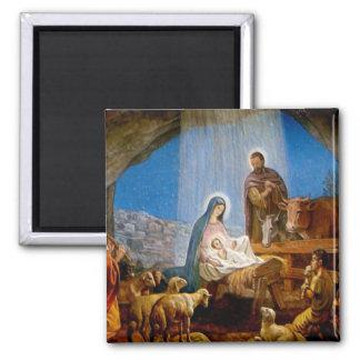 Nativity Scene Gifts for Christmas Magnet