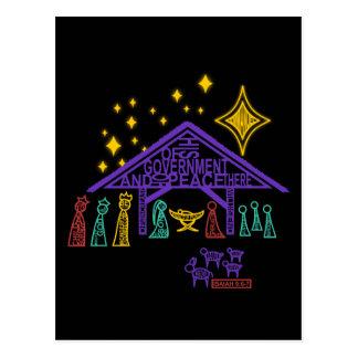 Nativity Scene - Isaiah 9:6-7 Christmas Postcard