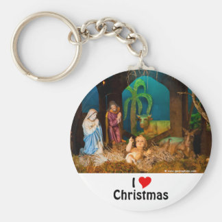 Nativity scene keychain