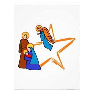 Nativity Scene Letterhead
