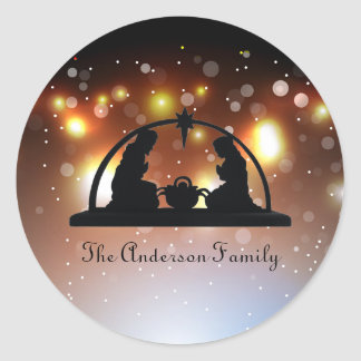 Nativity Scene LIghts - Christmas Sticker