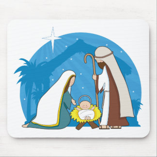 Nativity Scene Mouse Pad