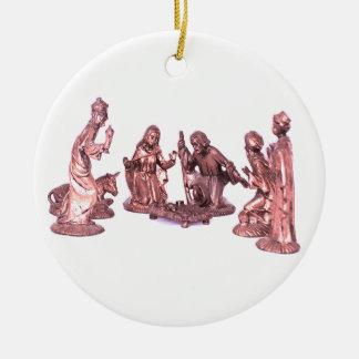 Nativity Scene/Nacimiento Ceramic Ornament