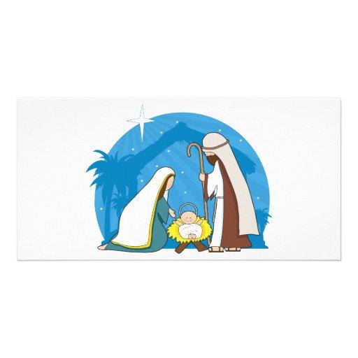 Nativity Scene Photo Card