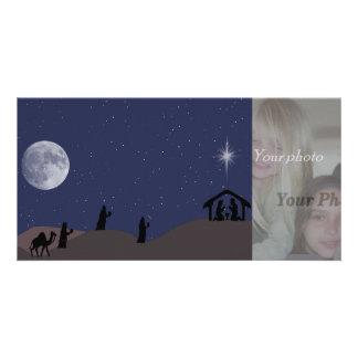 nativity scene photocard photo card