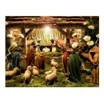 nativity scene postcard