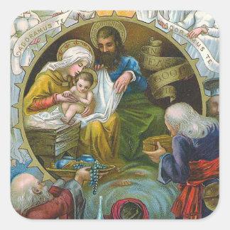 """""""Nativity Scene"""" Square Sticker"""
