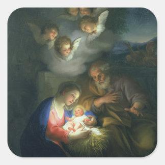 Nativity Scene Square Sticker