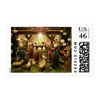 nativity scene stamp