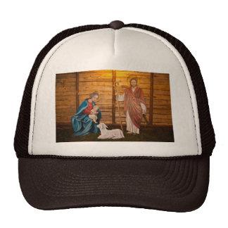 Nativity scene trucker hat