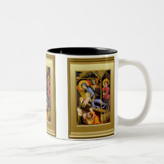 Nativity Scene Two-Tone Coffee Mug