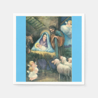 Nativity Scene Vintage Christmas Paper Napkins