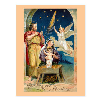 """Nativity Scene"" Vintage Postcard"