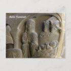 Nativity Scene with Mary and the Child Holiday Postcard