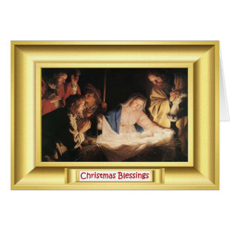 Nativity scene with Mary Greeting Cards
