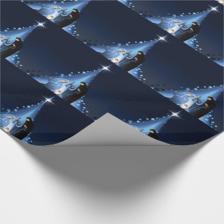 Nativity scene wrapping paper