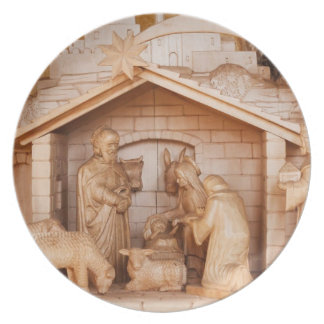 Nativity Set Plates