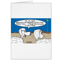 Nativity Sheep Card
