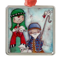 Nativity Shepherds - Premium Ornament