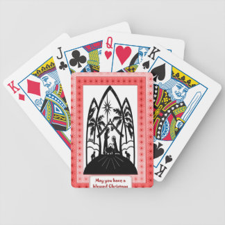 Nativity silhouette bicycle playing cards
