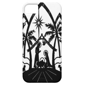 Nativity silhouette iPhone 5 cases