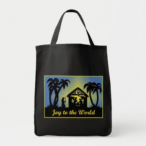 Nativity Silhouette Joy to the World Bag