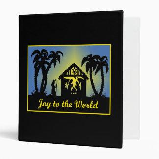 Nativity Silhouette Joy to the World Binder