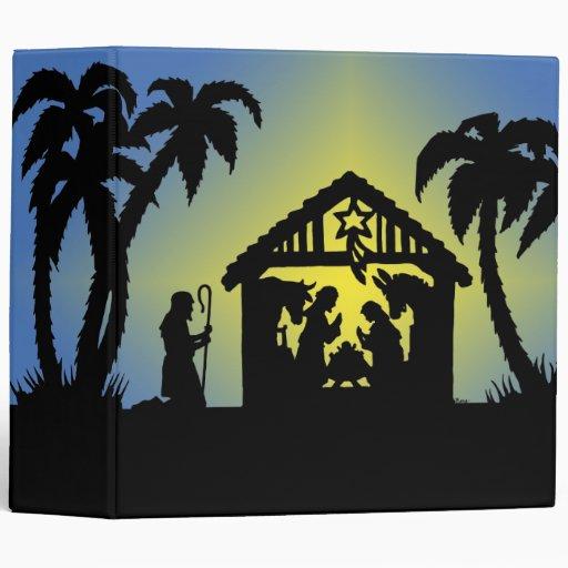 Nativity Silhouette Joy to the World Binders