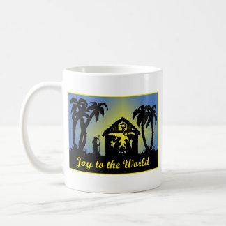 Nativity Silhouette Joy to the World Coffee Mug