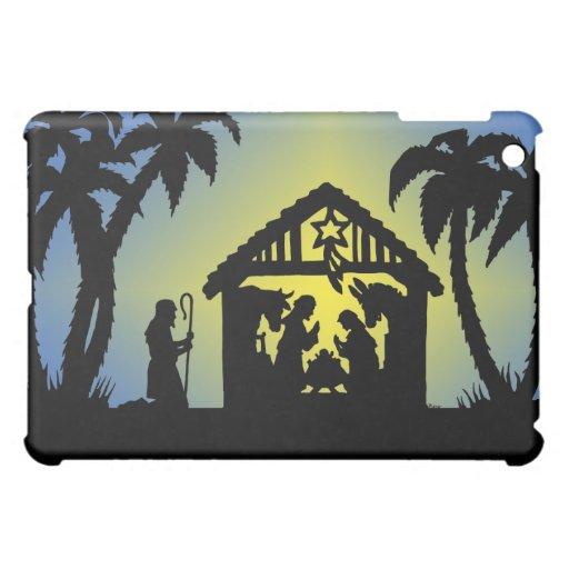 Nativity Silhouette Joy to the World iPad Mini Covers