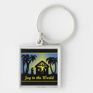 Nativity Silhouette Joy to the World Keychains