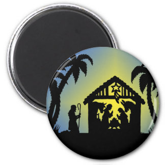Nativity Silhouette Joy to the World Magnet