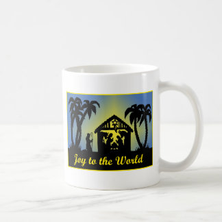 Nativity Silhouette Joy to the World Mug