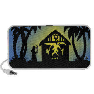 Nativity Silhouette Joy to the World PC Speakers