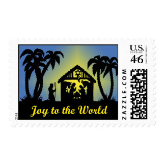 Nativity Silhouette Joy to the World Stamp