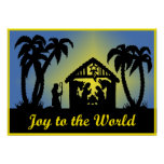 Nativity Silhouette Joy to the World Poster