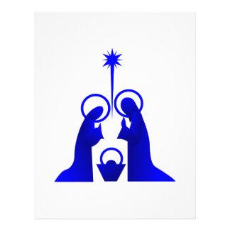 Nativity Silhouette Letterhead