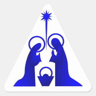 Nativity Silhouette Triangle Sticker
